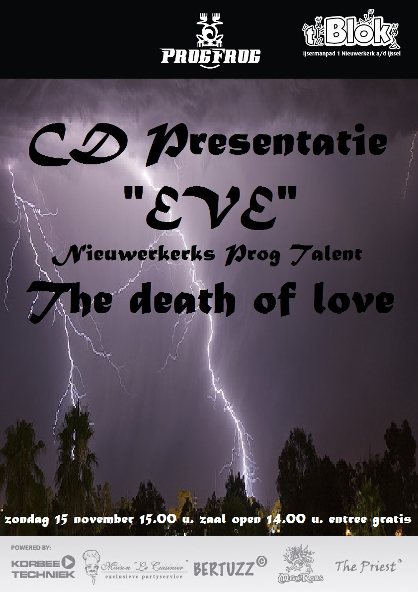 """CD Presentatie """"eVe"""" The Death Of Love"""
