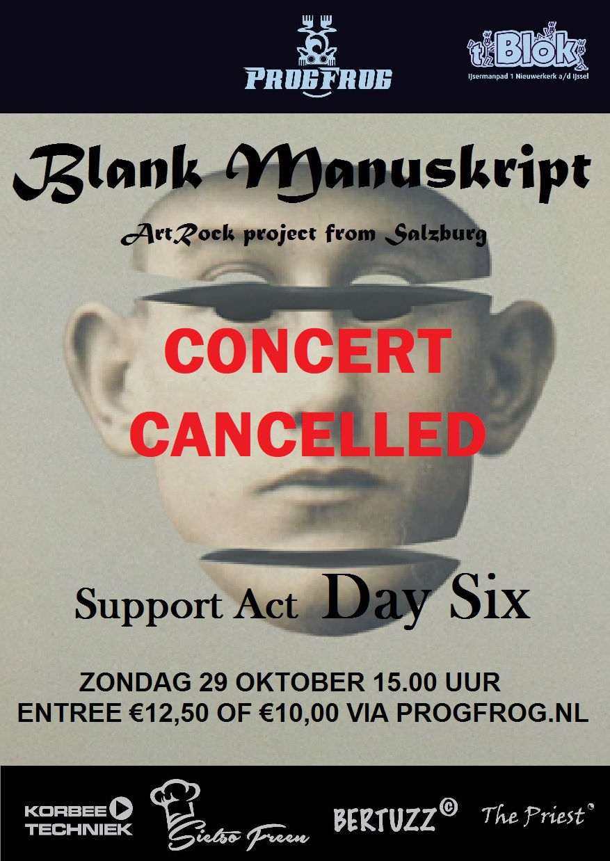 Blank Manuskript (AU) support act Day Six GEANNULEERD