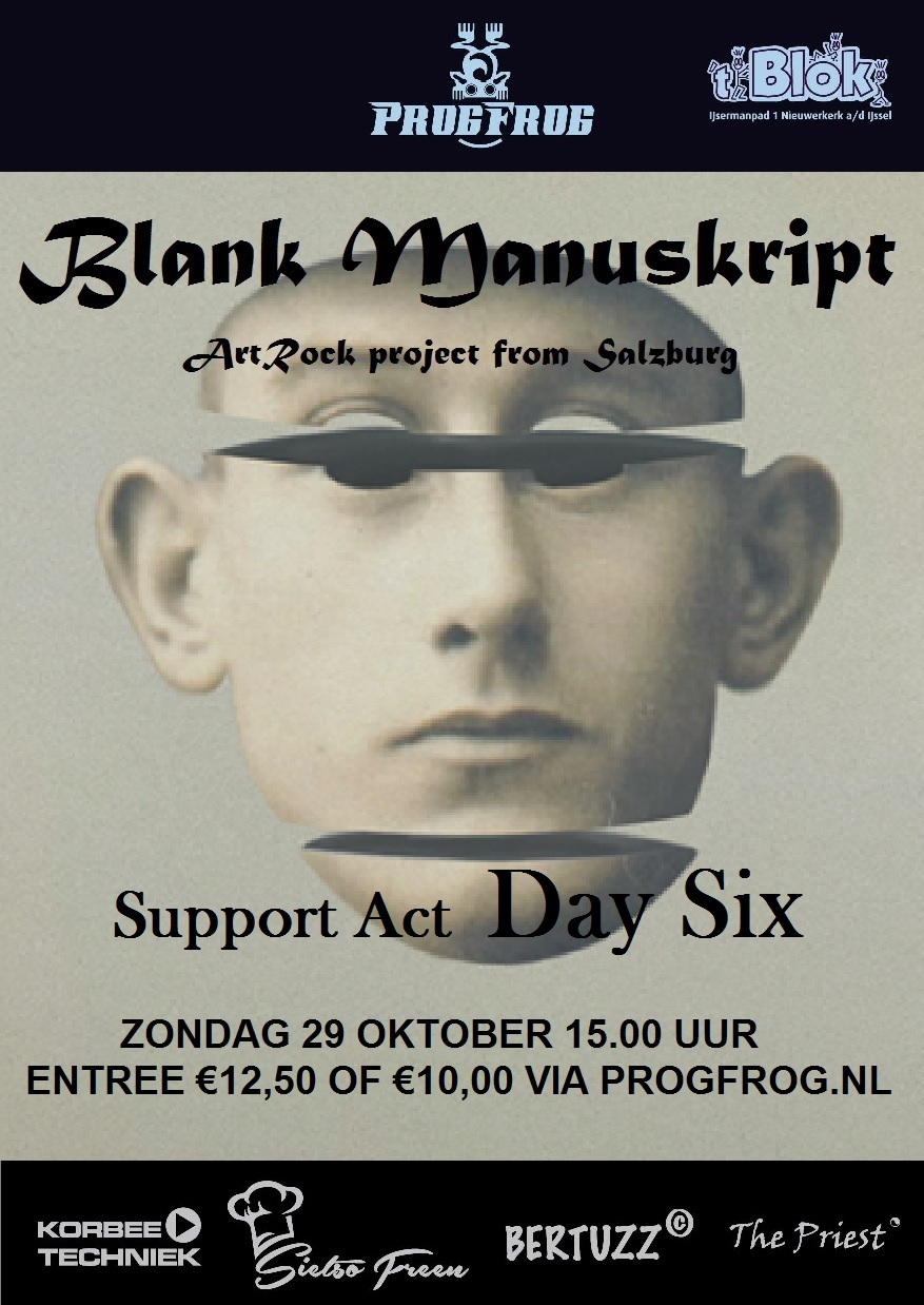 Blank Manuskript (AU) support act Day Six