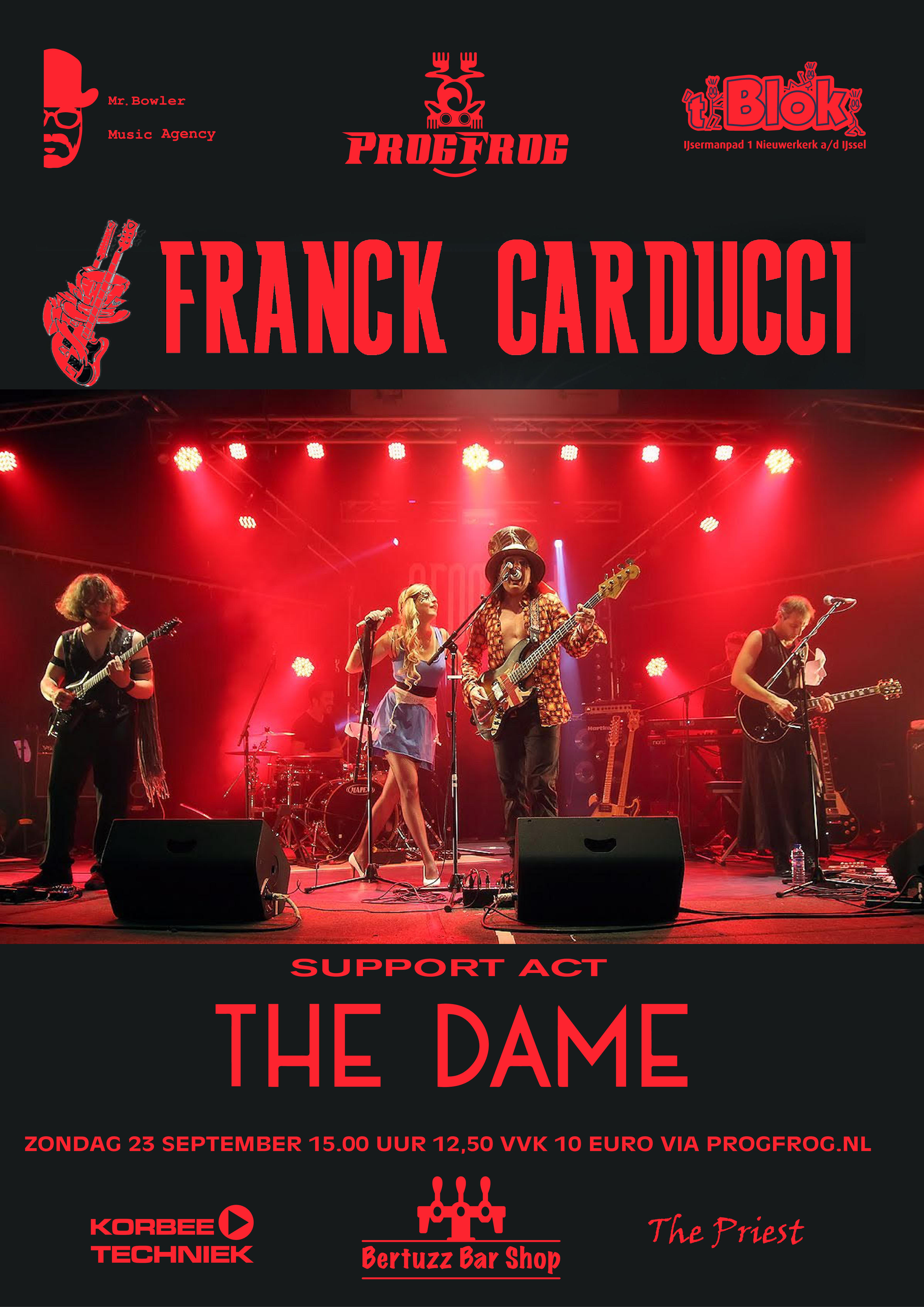 Franck Carducci Band (support act The Dame)