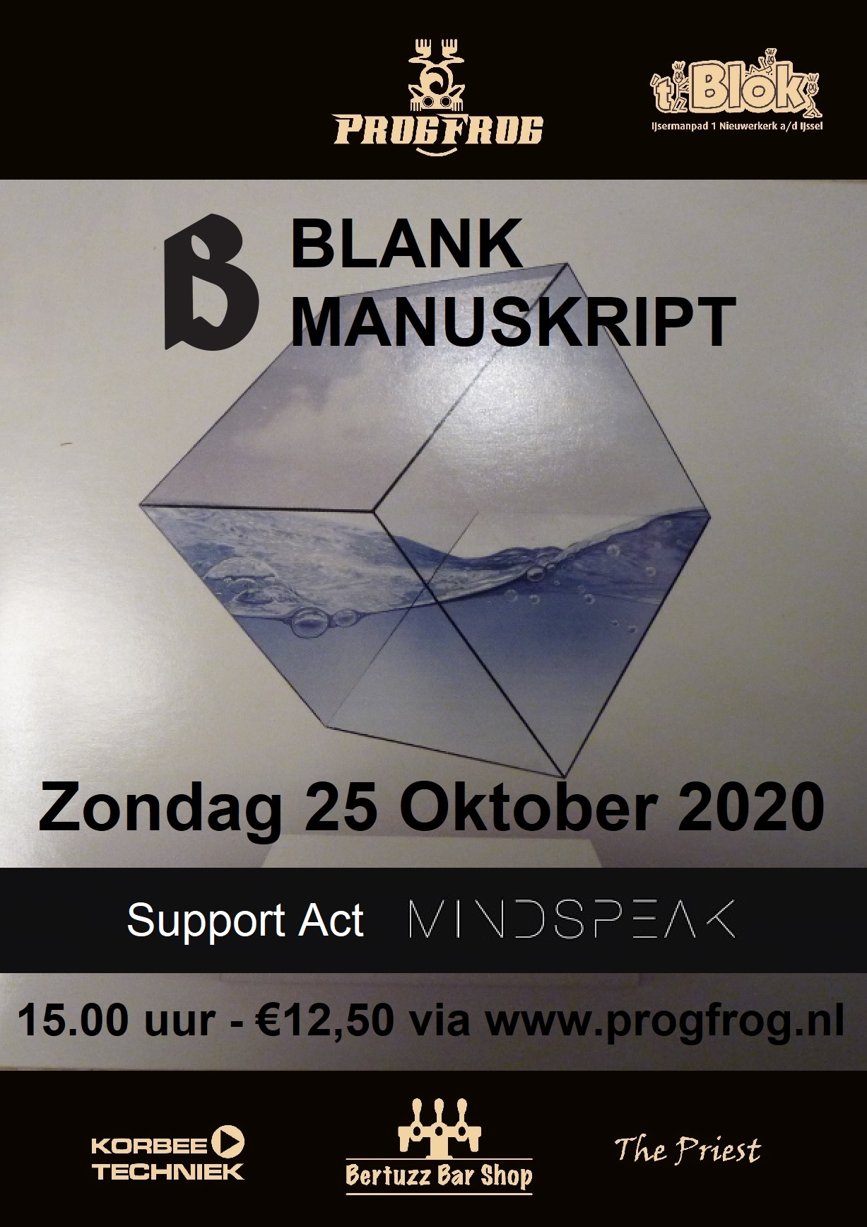 Blank Manuskript & support Mindspeak (Austria) POSTPONED